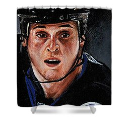 Vinny Lecavalier Shower Curtain by Marlon Huynh