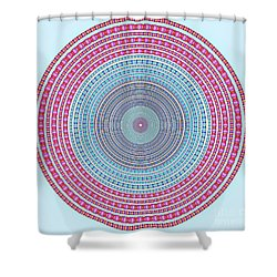 Vintage Color Circle Shower Curtain by Atiketta Sangasaeng