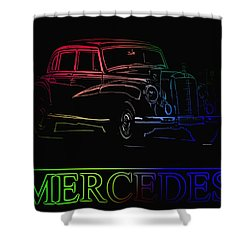Shower Curtain featuring the photograph Vintage Mercedes by George Pedro