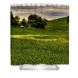 Vintage Palouse Country Shower Curtain by David Patterson