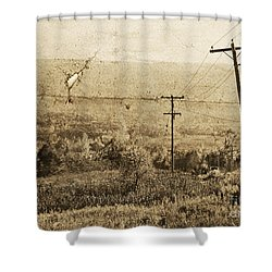 Vintage View Of Ontario Fields Shower Curtain