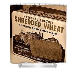 Vintage Wheat Shower Curtain by David Lee Thompson