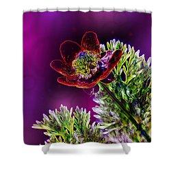 Violet Labialize Flora Shower Curtain by Bill Tiepelman
