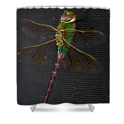 Violet Tail Damsel Shower Curtain by DigiArt Diaries by Vicky B Fuller