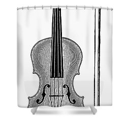 Violin And Bow Shower Curtain