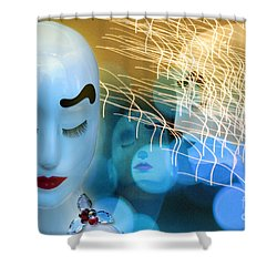 Virginal Shyness Shower Curtain