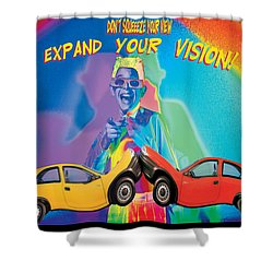 Vision Shower Curtain by Mauro Celotti