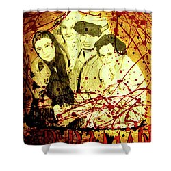 Shower Curtain featuring the mixed media Visit Beautiful Ar Ramadi by Michelle Dallocchio