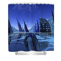 Visitation Shower Curtain by Nicholas Burningham