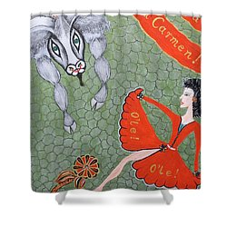 Viva Dona Carmen Shower Curtain