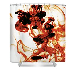 Volcanic Eruption Shower Curtain by Sumit Mehndiratta