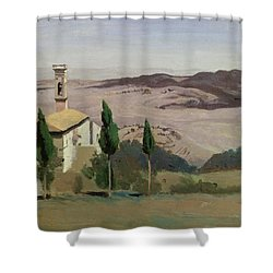 Volterra Shower Curtain by Jean Baptiste Camille Corot