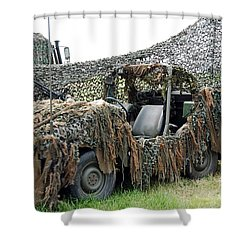 Vw Iltis Of The Special Forces Group Shower Curtain by Luc De Jaeger
