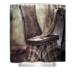 Waiting For Soup Shower Curtain by Empty Wall