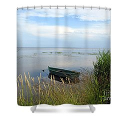 Shower Curtain featuring the photograph Waiting For The Nightshift by Ausra Huntington nee Paulauskaite