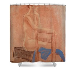 Waiting Naturally Shower Curtain by Lj Lambert