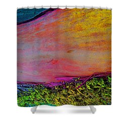 Shower Curtain featuring the digital art Walk Into The Future by Richard Laeton
