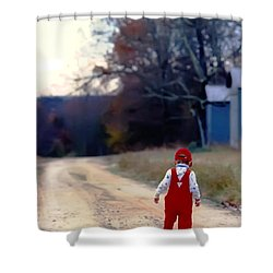 Walking On Pawpaw's Road Shower Curtain