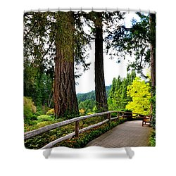 Walking The Butchart Gardens Canada Shower Curtain