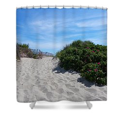 Walking Through The Dunes Shower Curtain