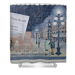 Wall Art Moose Jaw 2 Shower Curtain by Bob Christopher