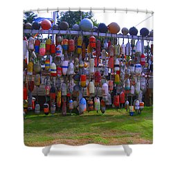 Wall Of Floats Shower Curtain by Kym Backland