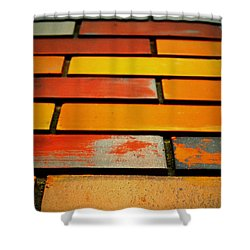 Wall Of Race Shower Curtain by Jerry Cordeiro