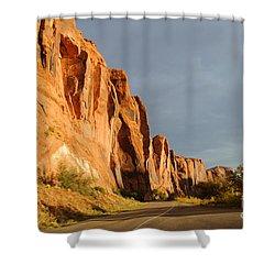 Wall Street Cliff Near Moab Shower Curtain by Gary Whitton