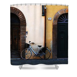 Walled City Of Lucca Shower Curtain by Bob Christopher