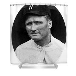 Shower Curtain featuring the photograph Walter Johnson - Washington Senators Baseball Player by International  Images