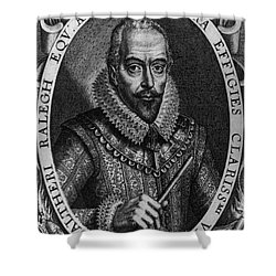 Walter Raleigh, English Courtier Shower Curtain by Photo Researchers