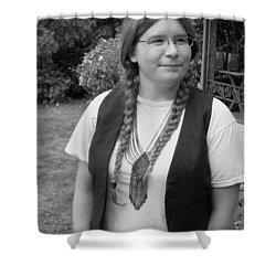 Wanted To Be Janis Joplin Shower Curtain by Kym Backland