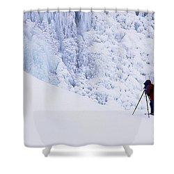 Wapta Falls Shower Curtain by Bob Christopher