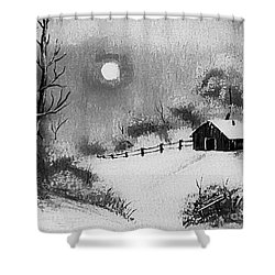 Warm Day  B And W Shower Curtain by Barbara Griffin