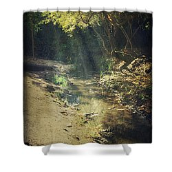 Warm My Soul Shower Curtain by Laurie Search