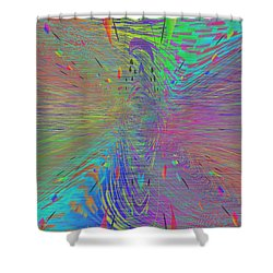 Warp Of The Rainbow Shower Curtain by Tim Allen