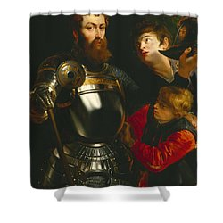 Warrior  Shower Curtain by Peter Paul Rubens