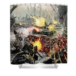 Wars Are Designed To Destroy  Shower Curtain