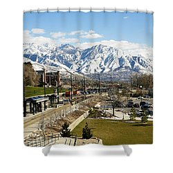 Wasatch Mountain Range Shower Curtain by Marilyn Hunt