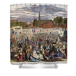 Washington: Abolition, 1866 Shower Curtain by Granger