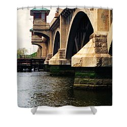 Washington Bridge Shower Curtain by John Scates