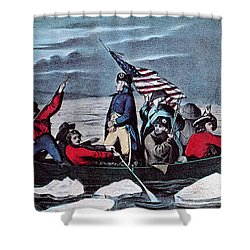 Washington Crossing The Delaware, 1776 Shower Curtain by Photo Researchers