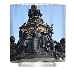 Washington Monument Philadelphia - Front View Shower Curtain by Bill Cannon