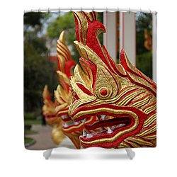 Wat Chalong 3 Shower Curtain