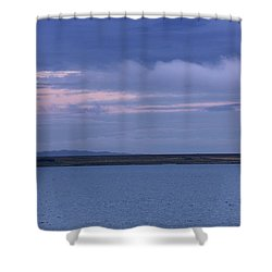 Water And Dark Clouds Shower Curtain by John Short