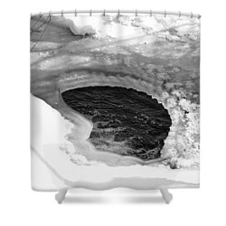 Water And Ice Shower Curtain by Michael Goyberg