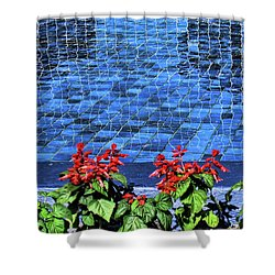 Water And Mirrors Shower Curtain