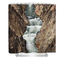 Water And Rock Shower Curtain by Living Color Photography Lorraine Lynch