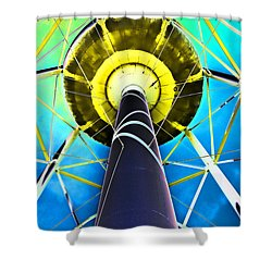 Water Belly Iv Shower Curtain by Debbie Portwood