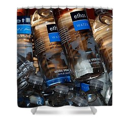 Water Bottles Shower Curtain by Rob Hans